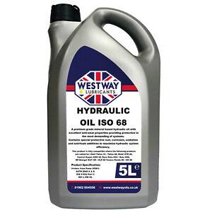 Hydraulic Oil 68 Fluid 5L VG68 Westway High Grade 5 Litres ISO 68 Tellus 33