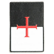 Embroidered Knights Templar Flag Sew or Iron on Patch Biker Patch
