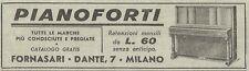 Y3140 Pianoforti FORNASARI - Pubblicità del 1939 - Old advertising
