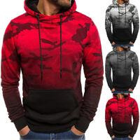 Men's Fall Winter Slim Hoodie Warm Hooded Sweatshirt Coat Jacket Outwear Sweater