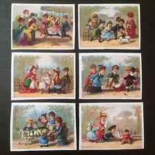 6 Chromos Testu & Massin - Auber & Pillet - Jeux d'Enfants