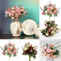 2 Bouquets 42 Head Artifical Rose Silk Flower Bouquet Home Wedding Decor Layout