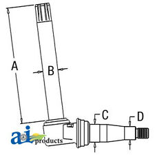 John Deere Parts SPINDLE LH/RH AR67417 2640 (SN <-340999),2630 (MEDIUM KNEE),244