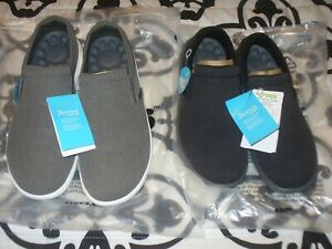 Men Reviva Canvas Slip on Loafer Choise Sz/Color Blk/Gray or Gray/Whi NWT