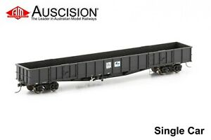 Auscision (NOW-35) NOCY Open Wagon, PTC Black with White L7 - Single Car Pack