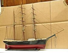 Vintage Ship Model Of 3 Masted Barque