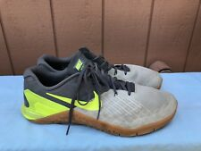 EUC Men Nike Metcon 3 US 13 Training Athletic Shoes Dark Gray Volt 852928-004 A6