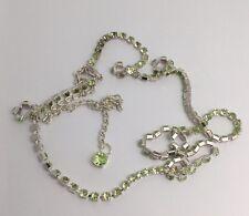 Long Diamanté Necklace. Flapper Fancy Dress , Dressing Up Fun F126 Lime Green