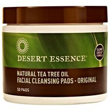 DESERT ESSENCE TEA TREE OIL FACIAL CLEANSING PADS NATURAL ACNE PIMPLES OILY SKIN