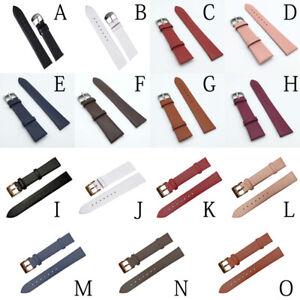 12-22mm Women/Men Leather Wristwatch Strap Watch Buckle Band