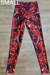=BLACK MILK red ruby jewel leggings SMALL = 10  ex condition=