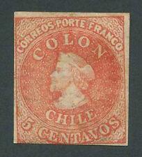 CHILE Sofich 13 FE 5 - 3 ; 3 1/2 margins M no gum VF