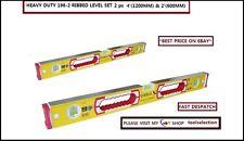 STABILA 2PC LEVEL PACK TYPE 196-2 EXTRA STRONG ROBUST SPIRIT LEVE  -2' & 4'