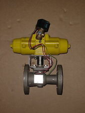"""1-1/2"""" Watts Ball Valve 2503 Stainless 112A (CF8M) 300# Fl Actuated w/ Solenoid"""