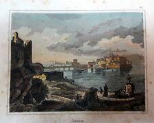1827 TARANTO AUDOT INCISIONE ACQUERELLATA
