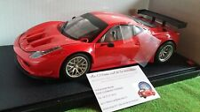 FERRARI 458 ITALIA GT2 rosso 1/18 FLUO WHEELS BCJ77 macchina in miniatura