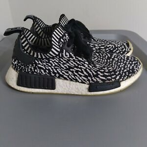 Adidas NMD R1 Prime Knit Zebra Mens Size 7.5 Shoes Black/White Athletic Sneakers