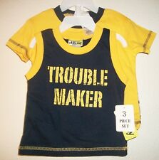 NWT - Baby Boys 3-6 Months 3 Piece Baseball Short Set w/ Shirt and Tank Top