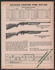 1980 SAVAGE Model 170 & 170-C Pump Action Center Fire Rifle AD