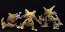 Rare Abra Kadabra Alakazam NINTENDO TOMY Vintage Pokemon Go 3 Figure Toy Bundle