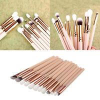 12x Pro Makeup Brushes Eyeshadow Eyeliner Lip Brush Tool Foundation Powder Set D