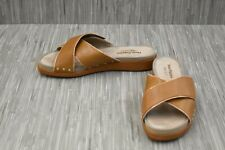**Hush Puppies Chrysta Xband Slide HW06276-236 Sandal - Women's Size 10M, Tan