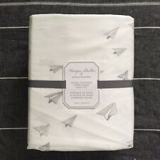 Pottery barn Kids Monique Lhuillier Sateen Scattered Paper Plane Sheet set Full