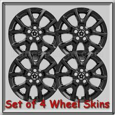 "Jeep Cherokee Latitude Wheel Skins 17"" 2015-2016 Black Hubcaps Wheel Covers"
