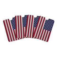 United States of America American USA Flag Credit Card RFID Blocker Sleeves Set