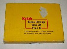 2pc. Kodak Type N Vintage Retina Close Up Lens, New