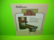 BIG STRIKE Shuffle Alley Arcade Game FLYER Original Promo Coin-Op Artwork 1983