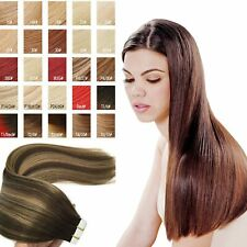 Luxury 8A Tape In Remy Human Hair Extension Deluxe Fashionable Soft Straight UK