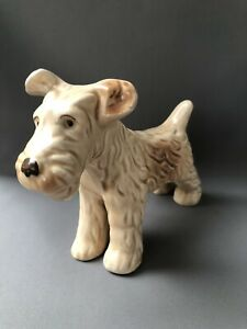 1930s SylvaC Pottery England Light Tan Terrier Dog Standing Position Model 1121