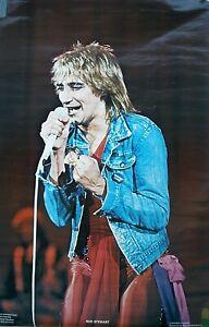 RARE ROD STEWART  1978 VINTAGE ORIGINAL MUSIC POSTER
