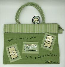Camp Grandma Large Photo Tote Bag Green When a Child is Born So Is a Grandma