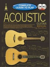 COMPLETE LEARN TO PLAY Acoustic Guitar Manual +CD*