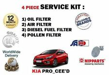 FOR KIA PRO CEED 1.6TD 2012-> NEW OIL AIR FUEL POLLEN FILTERS (4) SERVICE KIT