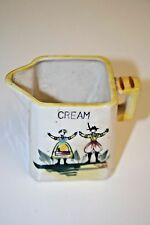 Vintage Hand Painted Colorful Yellow Old Creamer Austria Couple Cream Pourer