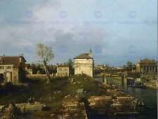 Canaletto italiano Porta Portello Padua Antiguo Arte Pintura Poster Print BB5056B