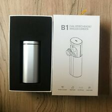 B1 Wireless Stereo Headset Bluetooth 4.1 Earbuds with Charging Socket (Silver)