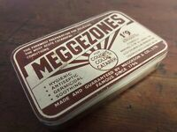 Collectable Vintage Tin MEGGEZONES Price Marked 1'9 Including Purchase Tax