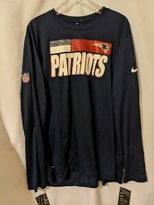NWT Nike New England Patriots Mens On Field Short Sleeve Dri Fit Shirt Sz XXL