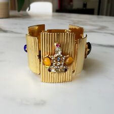 iconic GIANNI VERSACE gold-tone metal cuff with 3 crowns from fall/winter 1991