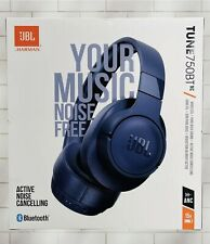 New listing Jbl Tune 750Btnc Noise-Canceling Wireless Over-Ear Headset - Blue New! Free Ship