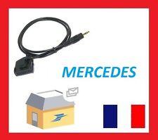Cable jack 3.5mm aux adaptateur mp3 pour autoradio Mercedes Classe C W202, W203
