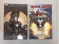 Iron Man 2.0 Paperback Tpb 1 & 2 Asymmetry Palmer Addley Is Dead