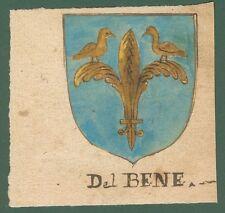 ARALDICA. DEL BENE-BALDI. Toscana '600. Stemmi di famiglie nobili toscane.