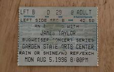 James Taylor Vintage Ticket Stub Garden State Arts Center August 5, 1996