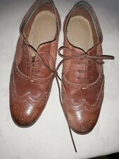 Hush Puppies Ladies Tan Brogue Lace up Shoes Size 6 Wide Fit ELLODIE ELLIS