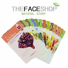 THE FACE SHOP x 15pcs Real Nature Mask Sheet Aloe/Rice/Lemon/Blueberry/Honey Etc
